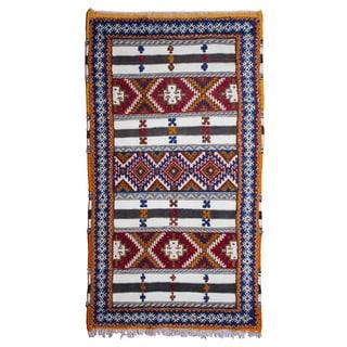Moroccan Handmade Tribal Wool Rug (3'8 x 6'4)