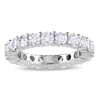 Miadora Signature Collection 18k White Gold 3ct TDW Certified Diamond Eternity Ring