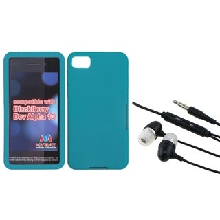 INSTEN Hands-Free Headset/ Teal Phone Case Cover for Blackberry Z10