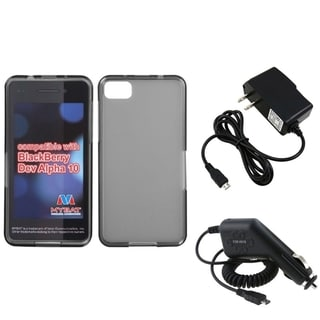 INSTEN Travel Charger/ Car Charger/ Smoke Phone Case Cover for Blackberry Z10