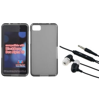 INSTEN Hands-Free Headset/ Clear Smoke Phone Case Cover for Blackberry Z10