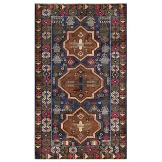 Herat Oriental Afghan Hand-knotted Tribal Balouchi Wool Rug (3'10 x 6'6)