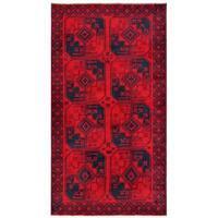 Herat Oriental Afghan Hand-knotted Tribal Balouchi Wool Rug - 3'5 x 6'3