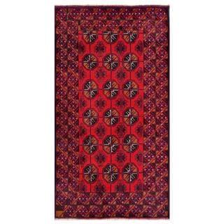 Herat Oriental Afghan Hand-knotted Tribal Balouchi Wool Rug (3'8 x 6'8)