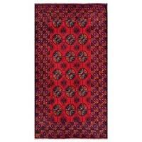 Herat Oriental Afghan Hand-knotted Tribal Balouchi Wool Rug - 3'8 x 6'8