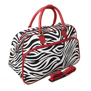 World Traveler Designer Prints Zebra 21-inch Shoulder Tote Duffel Bag