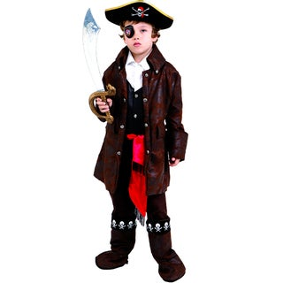 Boys Caribbean Pirate Costume (5 options available)