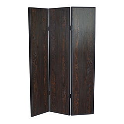 Sonoma Dark Brown 3-Panel Wood Screen (China)