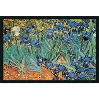 Framed Art Print Garden Of Irises by Vincent van Gogh 38 x 26-inch