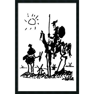 Pablo Picasso 'Don Quixote' Framed Art Print with Gel Coated Finish