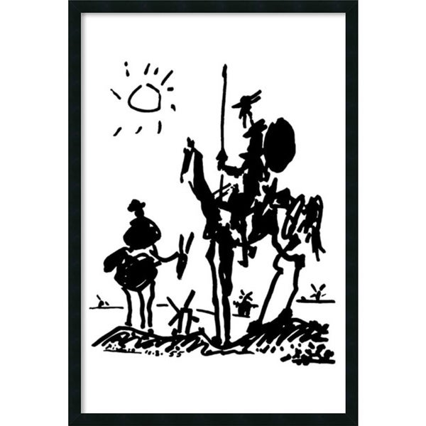 Framed Art Print Don Quixote by Pablo Picasso 26 x 38-inch. Opens flyout.