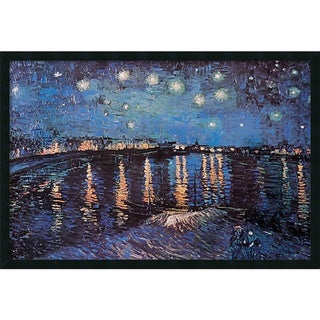 Vincent van Gogh 'Starlight Over the Rhone' 37 x 25-inch Framed Art Print with Gel Coated Finish