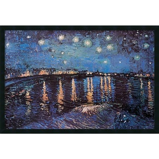 Framed Art Print Starlight Over the Rhone by Vincent van Gogh 38 x 26-inch