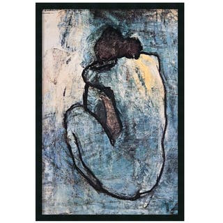 Framed Art Print The Blue Nude (Seated Nude), 1902 by Pablo Picasso 26 x 38-inch|https://ak1.ostkcdn.com/images/products/8171305/P15510276.jpg?impolicy=medium