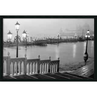 Grand Canal - Venice' Gel-coated 37x25-inch Framed Art Print