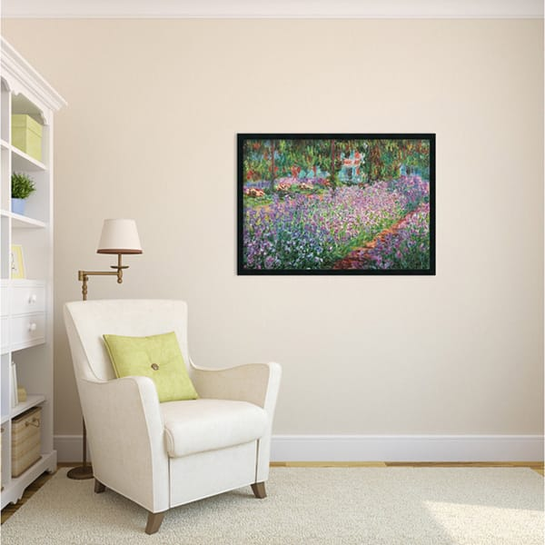 Shop Framed Art Print Le Jardin De Monet A Giverny By Claude Monet