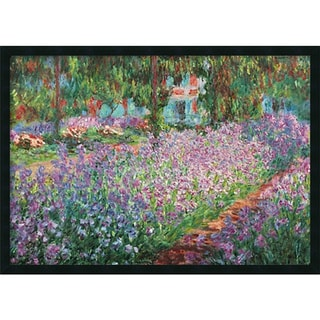 Claude Monet 'Le Jardin de Monet a Giverny' 37 x 25-inch Framed Art Print with Gel Coated Finish