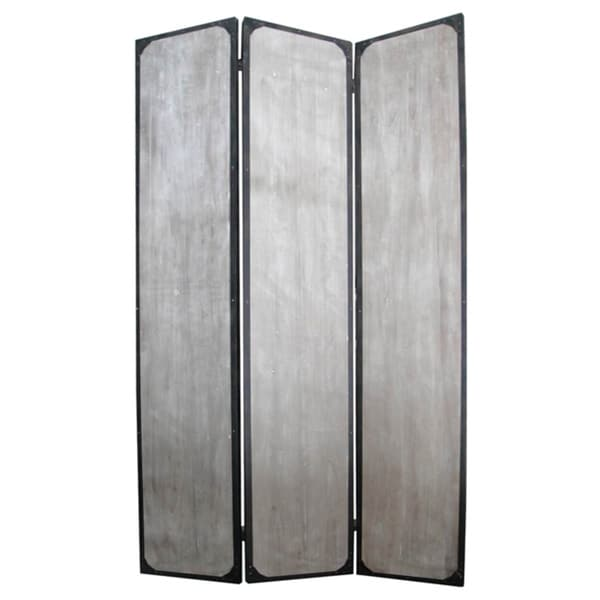 Industrial 3-panel Wood and Metal Screen (China)