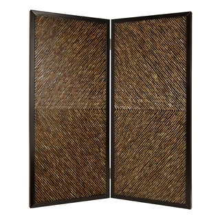 Handmade 84-inch High Anacapa 2-panel Wooden Screen (China)
