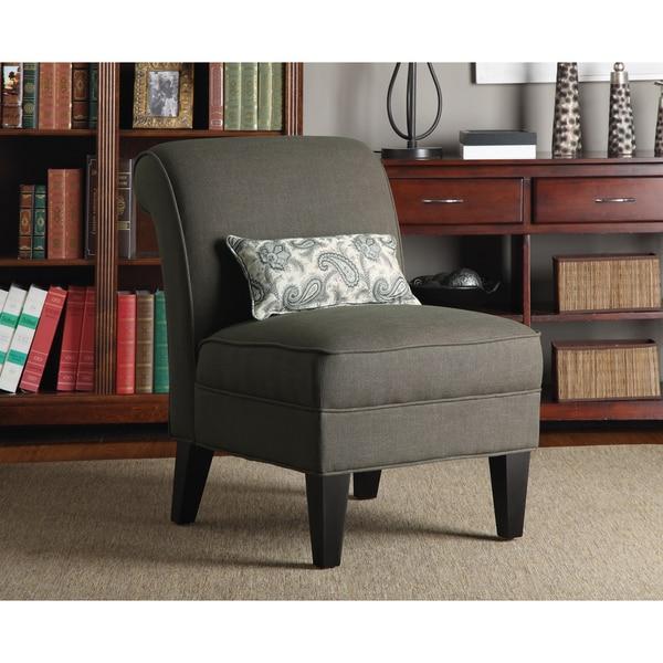 Better Living Ada Brown Smoky Moss Linen Armless Chair