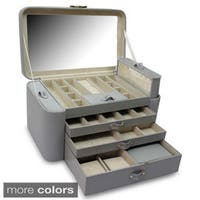 Morelle & Co Alexis Leather Large Two Side Pullout Jewelry Box