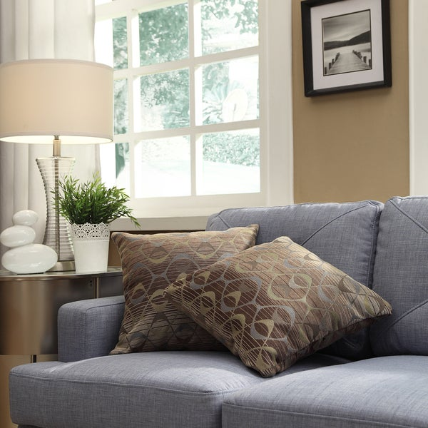 INSPIRE Q Clybourn 18-inch Toss Oval Chain Accent Pillow (Set of 2)