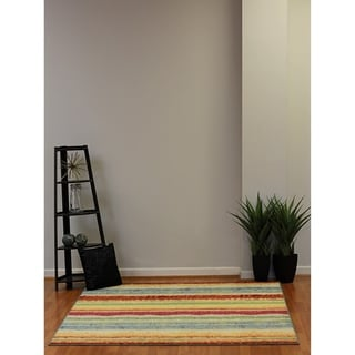 Eternity Patchwork Multicolored Rug (3'11 x 5'7)