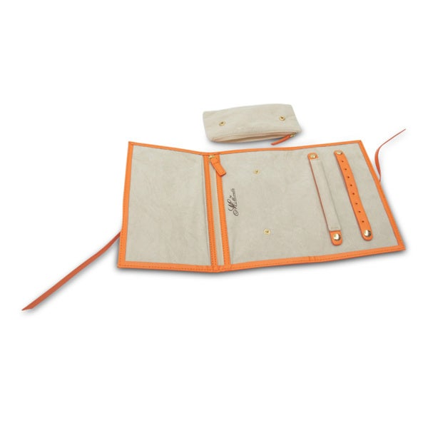 Morelle Audrey Leather Nectarine Jewelry Envelope