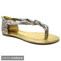 Luv's Womens 'Trieste' Knotted Flat Sandals