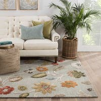 "Bloomsbury Handmade Floral Light Blue/ Multicolor Area Rug (3'6"" X 5'6"") - 3'6 x 5'6"
