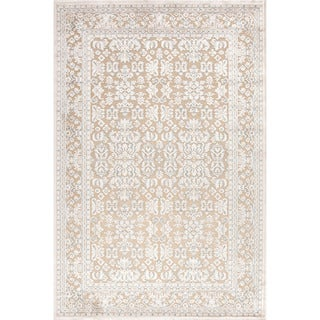 Transitional Oriental Pattern Ivory Rug (5' x 7'6)