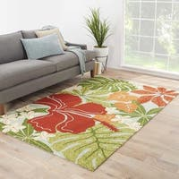 Kahiwa Indoor/ Outdoor Floral Multicolor/ Blue Area Rug - 5' x 7'6""