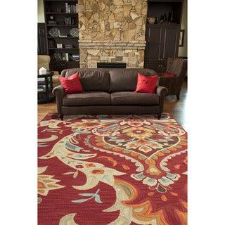 """Luella Handmade Floral Multicolor Area Rug (5' X 7'6"""") - 5' x 7'6"""""""