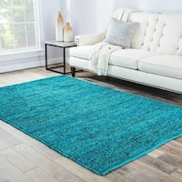 "Artemisa Natural Solid Turquoise Area Rug (3'6"" X 5'6"") - 3'6 x 5'6"