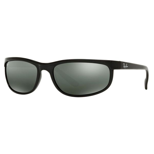 b8dc4fdade Ray-Ban RB2027 Predator 2 Polarized Sunglasses Black  Grey Mirror 62mm -  Black