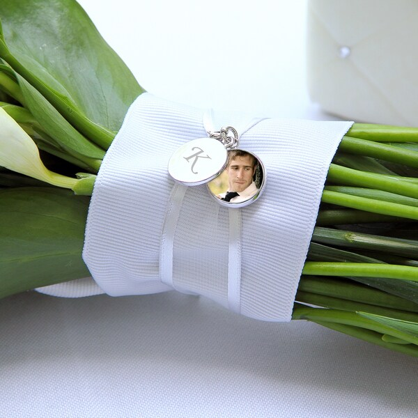 Bridal Bouquet Locket Charm and Keepsake Bracelet