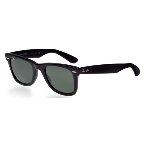 Ray Ban Square RB2140 901 54-18 Unisex Black Frame Green Lens Sunglasses