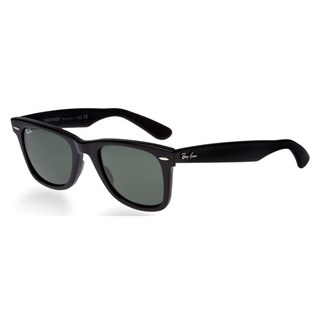 Ray Ban Square RB2140 901 54 Unisex Black Frame Green Lens Sunglasses