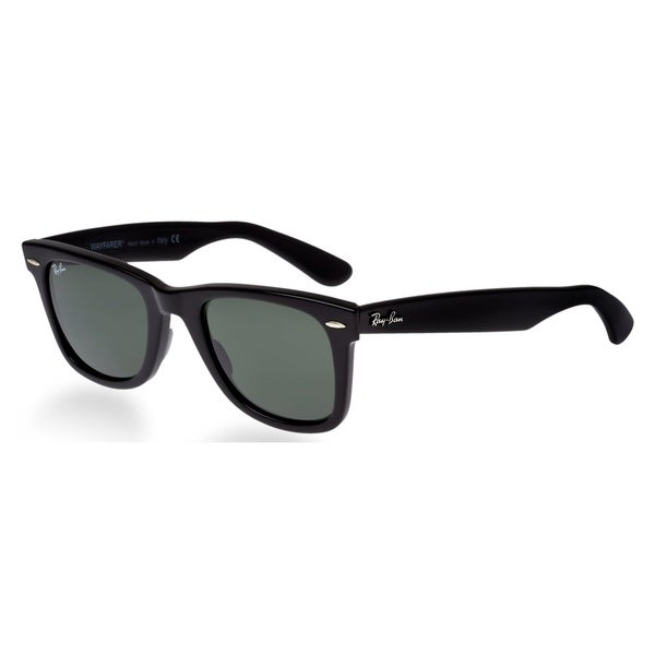 b3a9605f2bac1 Ray Ban Square RB2140 901 54-18 Unisex Black Frame Green Lens Sunglasses