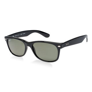 Ray-Ban New Wayfarer RB2132 Unisex Black Frame Green LensSunglasses