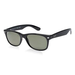 Ray-Ban New Wayfarer RB2132 Unisex Black Frame Green LensSunglasses|https://ak1.ostkcdn.com/images/products/8171924/8171924/Ray-Ban-Mens-New-Wayfarer-Black-Sunglasses-P15510797.jpg?_ostk_perf_=percv&impolicy=medium