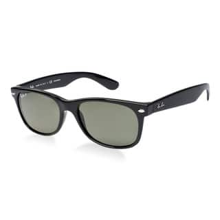 3384713501 Ray-Ban New Wayfarer RB2132 Unisex Black Frame Green LensSunglasses