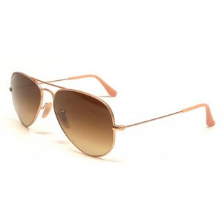 Ray Ban RB3025 Aviator Gradient RB3025 Unisex Gold Frame Light Brown Lens Sunglasses