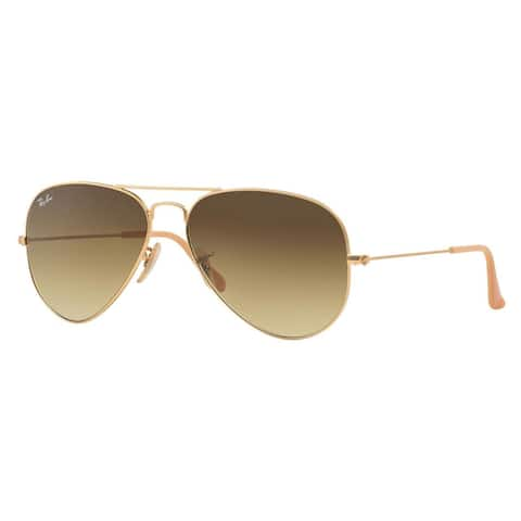 5bd37460bb16 Ray Ban RB3025 Aviator Gradient RB3025 Unisex Gold Frame Light Brown Lens  Sunglasses