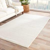 Minke Handmade Solid White/ Beige Area Rug (9' X 13') - 9' x 13'