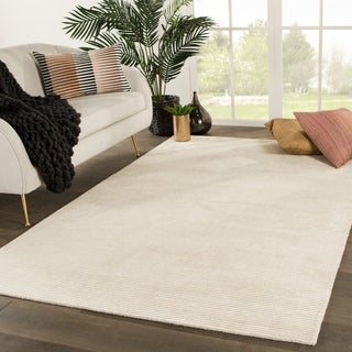 Phase Handmade Solid White Area Rug (2' X 3')
