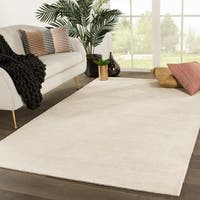 Phase Handmade Solid White Area Rug (2' X 3') - 2' x 3'