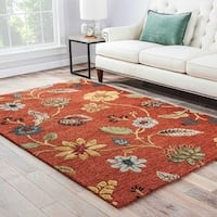 Bloomsbury Handmade Floral Red/ Multicolor Area Rug (2' X 3') - 2' x 3'