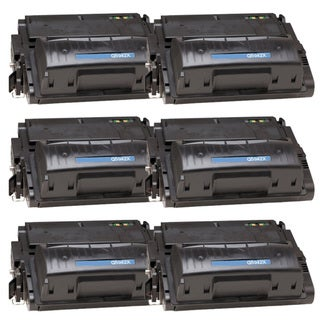 NL-Compatible Q5942X (42X) High Yield Black Compatible Laser Toner Cartridge (Pack of 6)