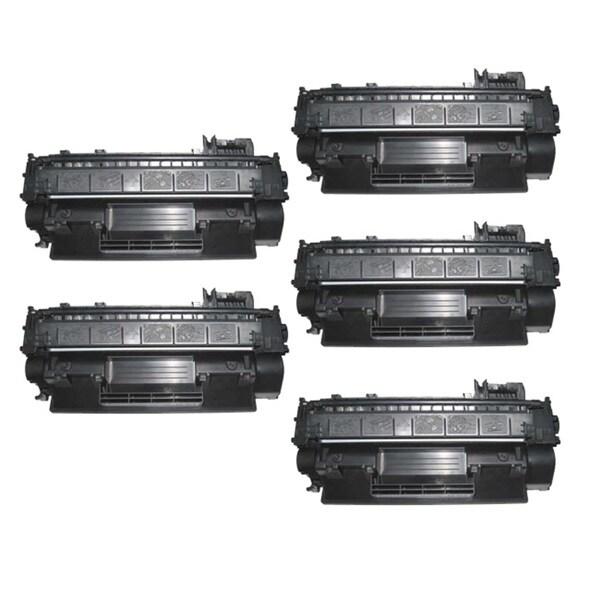 NL-Compatible CE505A (05A) Black Compatible Laser Toner Cartridge (Pack of 5)